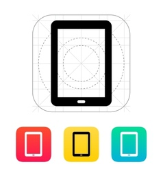 Tablet PC screen icon vector image vector image