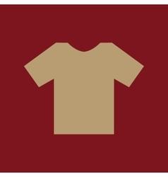 The shirt icon T-shirt symbol Flat vector image