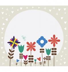 vintage retro flower background vector image vector image