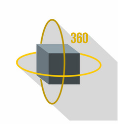 Virtual cube icon flat style vector