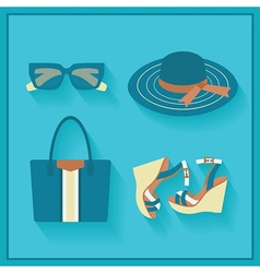 Women fashion accessories icons set vector image