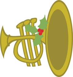 Xmas horn vector