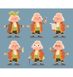 Noble medieval aristocrat mascot icons set cartoon vector
