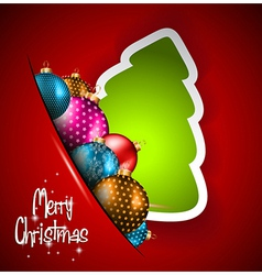 Elegant Classic Christmas flye vector image
