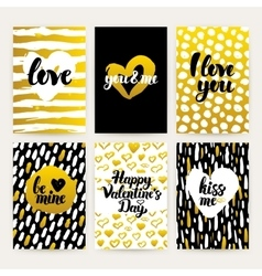 Valentines day trendy brochures vector