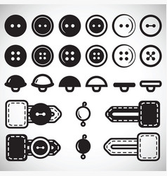 Set of isolated icons of buttons in flat style vector
