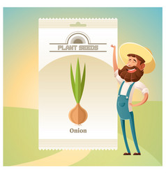 Pack of onion seeds icon vector