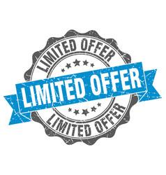 Limited offer stamp sign seal vector