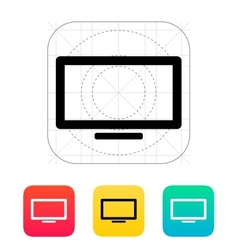 Plasma screen icon vector