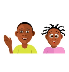 kids black smiling vector image