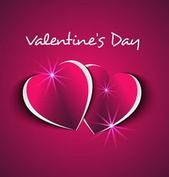 Two hearts couple valentines day vector