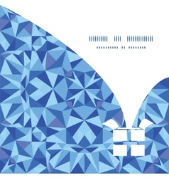 blue triangle texture Christmas gift box vector image