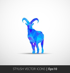 Colorful with silhouette of goat vector