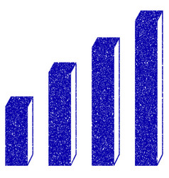 3d bar chart icon grunge watermark vector