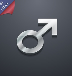 Male sex icon symbol 3d style trendy modern design vector
