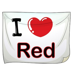I love red vector