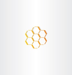 Abstract honey comb icon vector