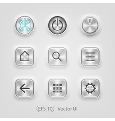 Brushed metal ui vector