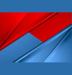 Abstract red and blue smooth contrast background vector image