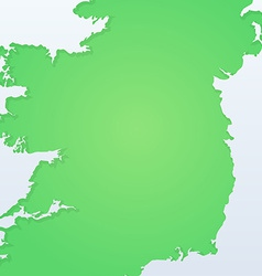 Background with Silhouette of Ireland vector image