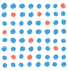 blue and red paint dots background vector image vector image