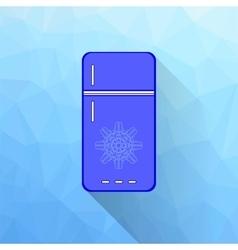 Blue refrigerator vector