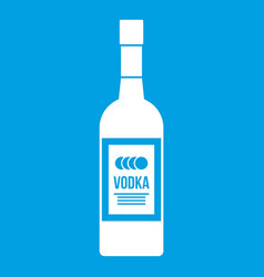 bottle of vodka icon white vector image