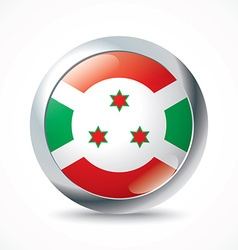 Burundi flag button vector image vector image