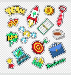 business team work doodle finance creative idea vector image vector image
