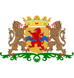 coat of arms of overissel netherlands vector image