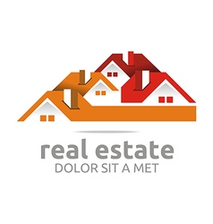 design real estate buiding architecture house vector image vector image