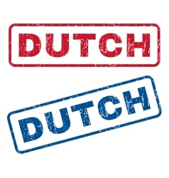 Dutch rubber stamps vector