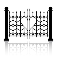 Forged gate of love vector image