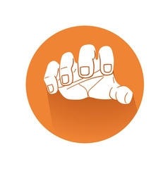 Grabbing hand symbol vector