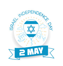 Greeting card israel independence day vector