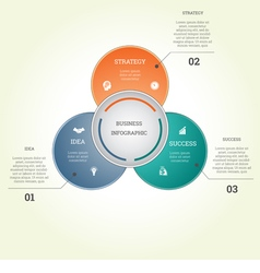 Infographic business template three text areas vector