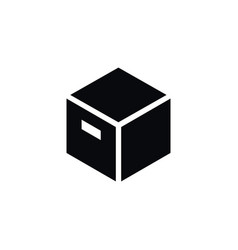 Isolated carton icon parcel element can be vector