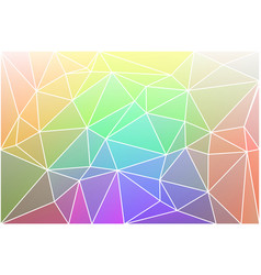 light rainbow geometric background with mesh vector image