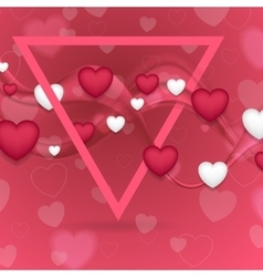 Pink valentines day abstract background vector