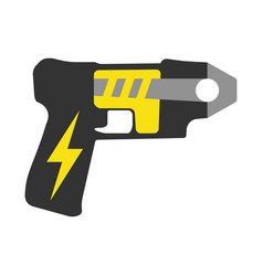 police taser elements of the police equipment vector image vector image