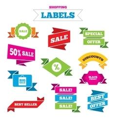 Sale speech bubble icon Discount star symbol vector image