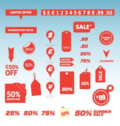 Sale tags and price labels vector
