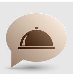Server sign Brown gradient icon on vector image vector image