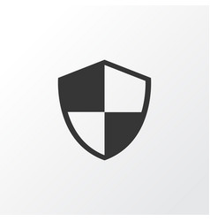 Shield icon symbol premium quality isolated vector