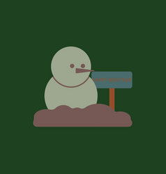 Snowman of snowman and wooden vector