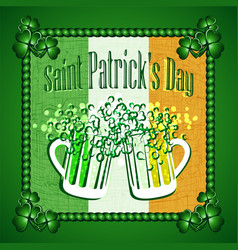 St patricks day greeting card background vector