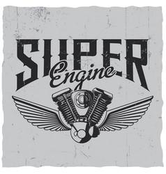 super engine poster vector image