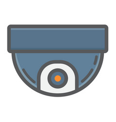 Surveillance camera colorful line icon cctv vector
