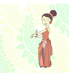 Thai traditional dancer vector