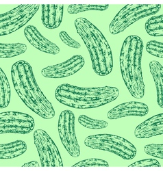Seamless cucumber pattern vector